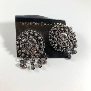 NWOT Silver Vintage Boho Fashion Earrings